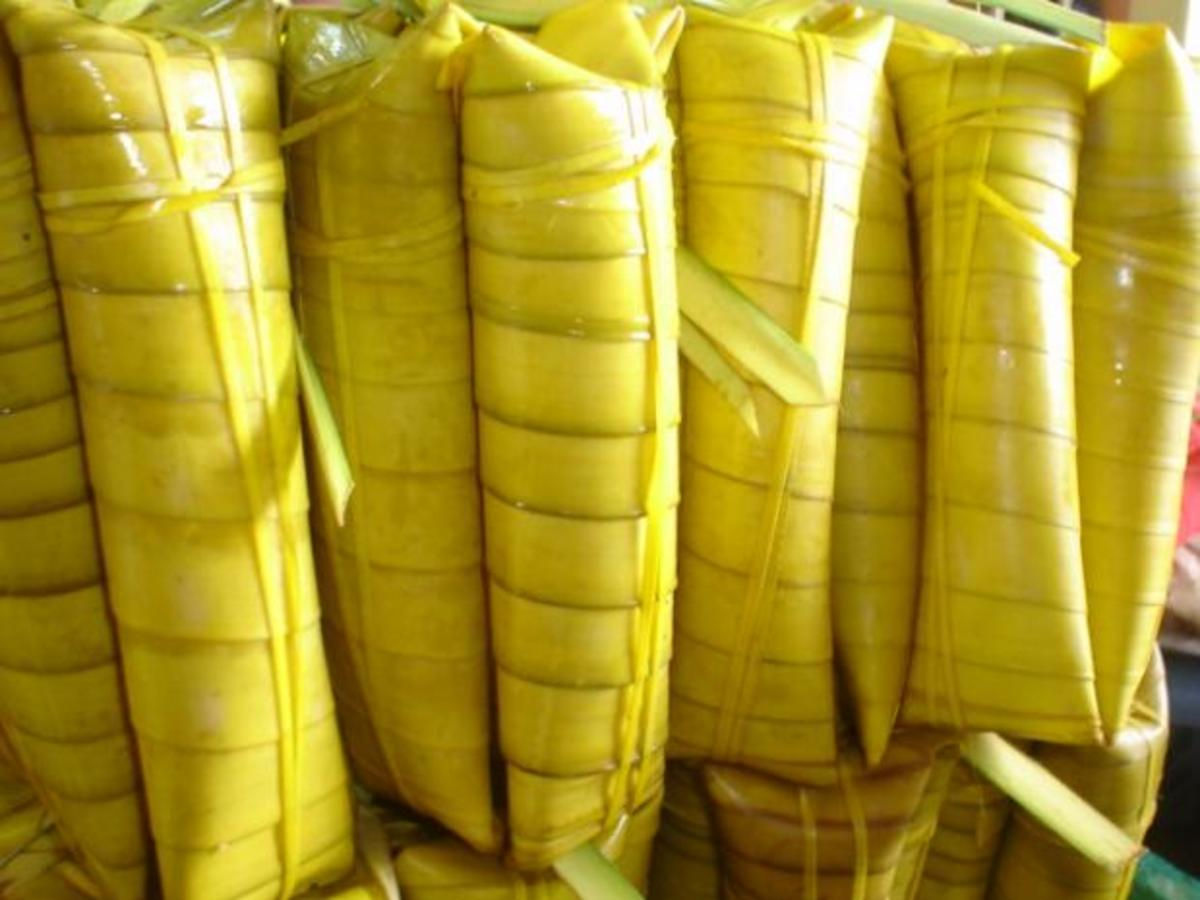 Coconut leaves use to wrap suman sa ibos.