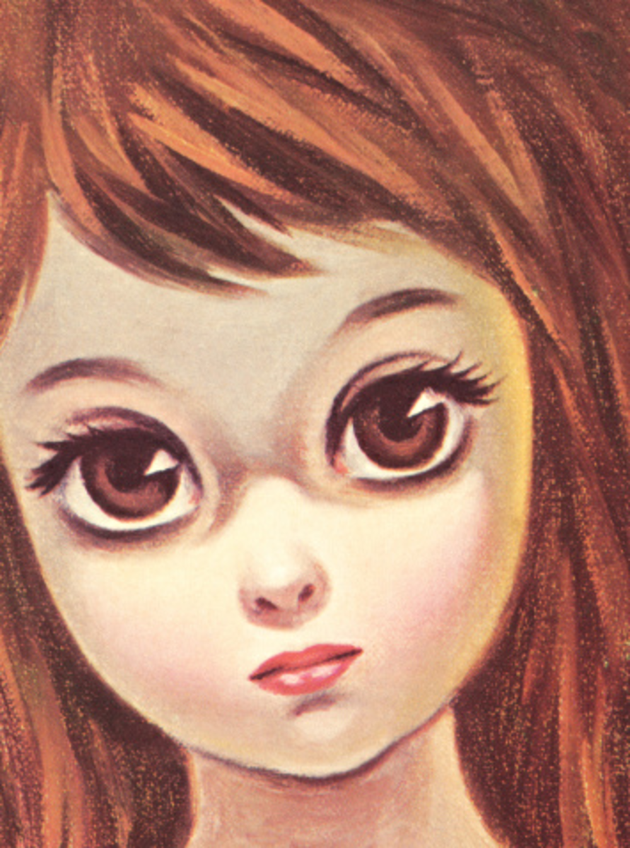 Big Eye (Eyed) Girl: Vintage Art