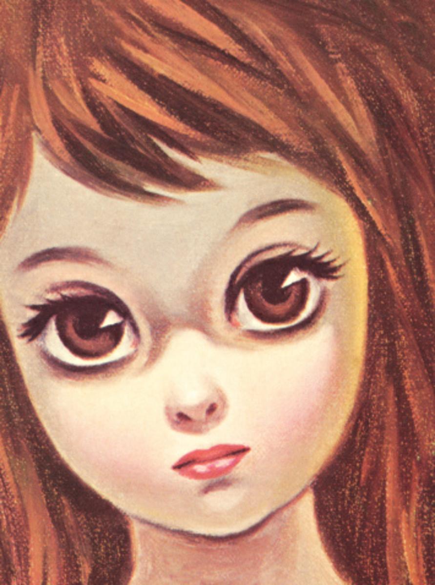 Big Eye (Eyed) Girl: Vintage Art