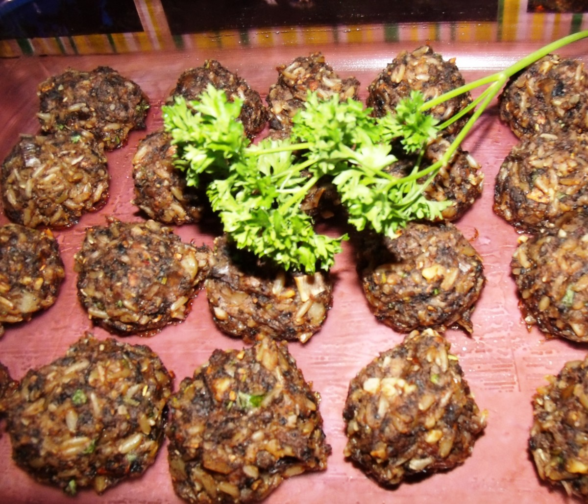 No-Meat Balls -- vegan and gluten-free