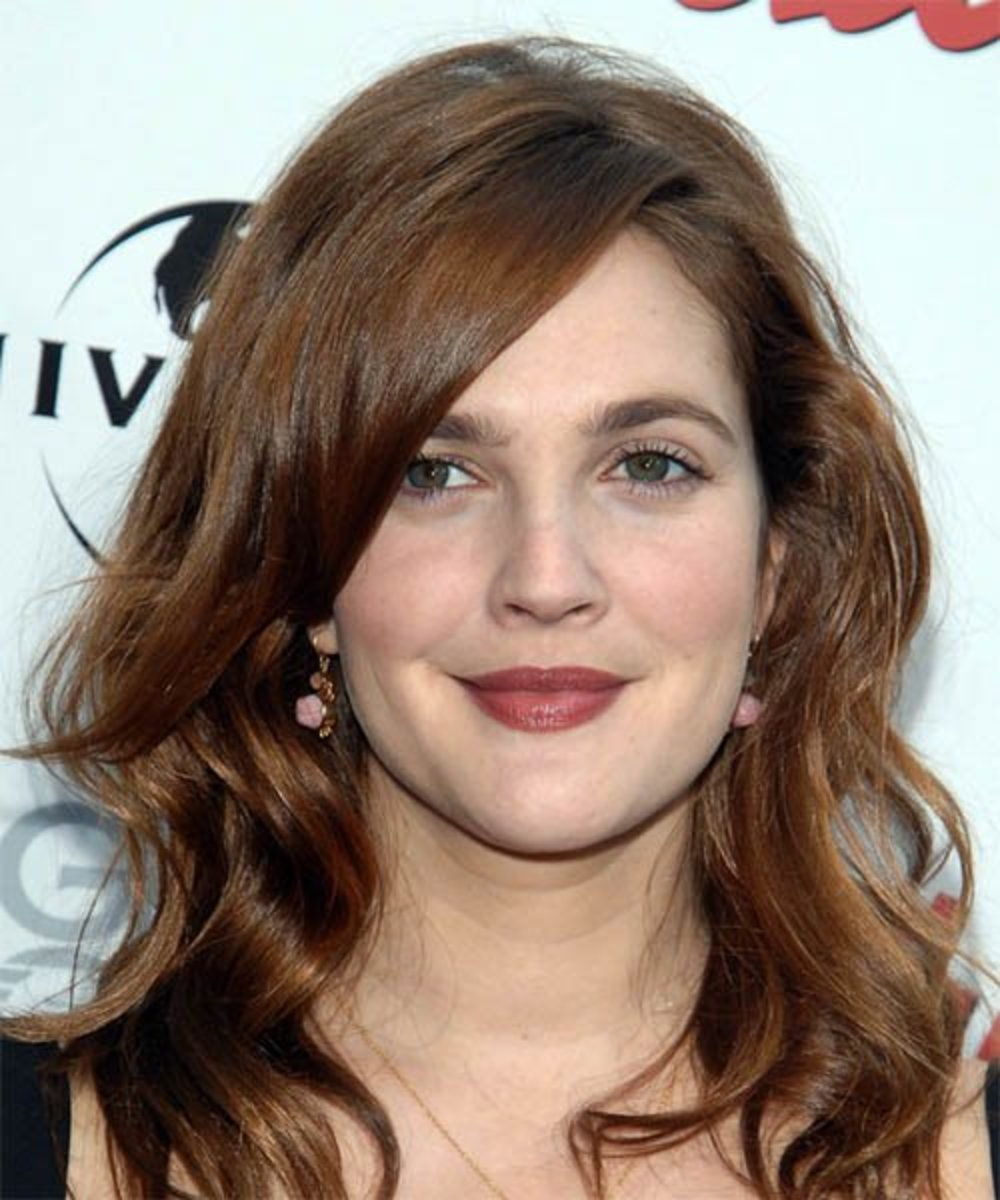 Drew Barrymore with Brown Hair