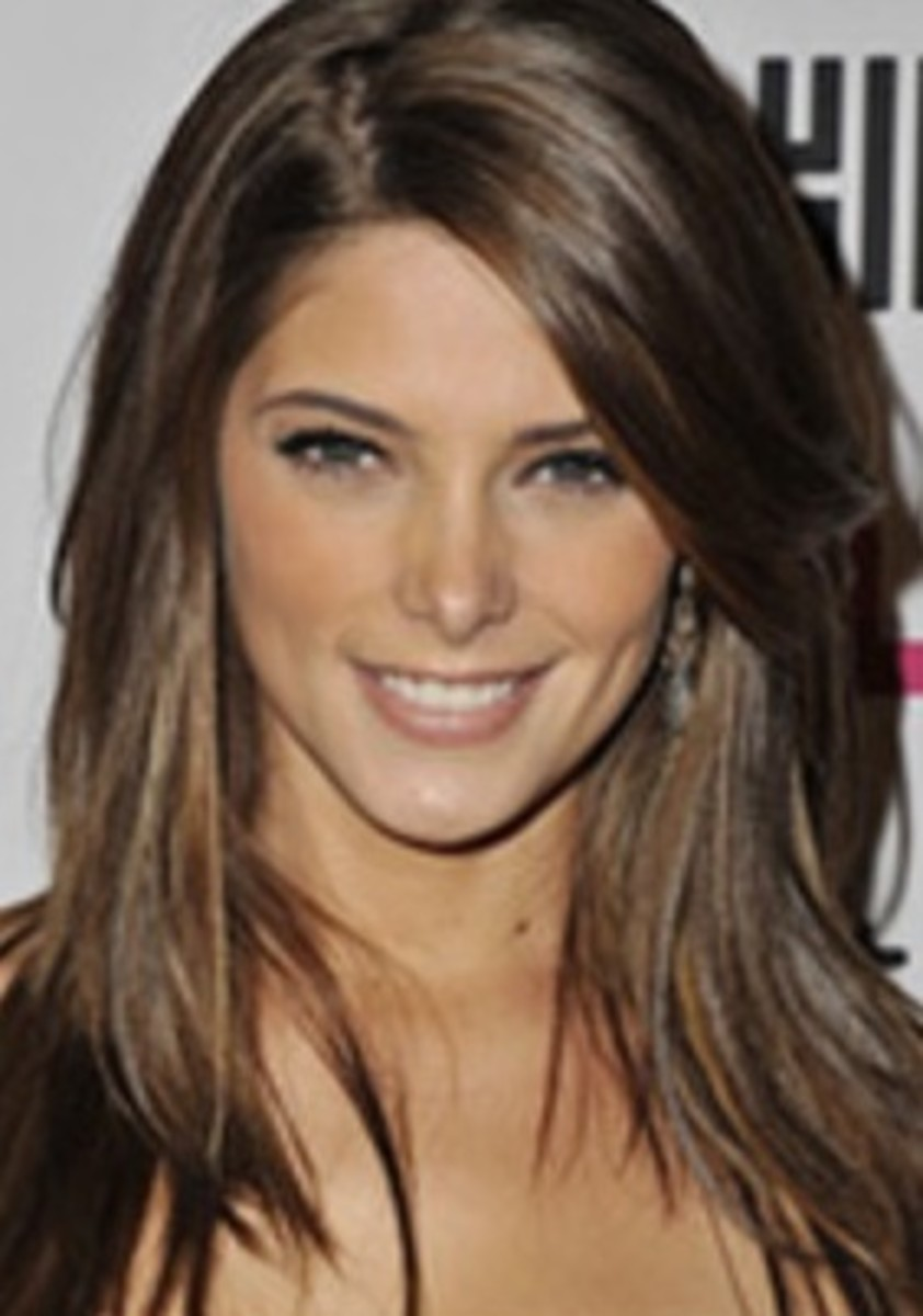 Ashley Greene with Long Hair in a Medium Brown Color