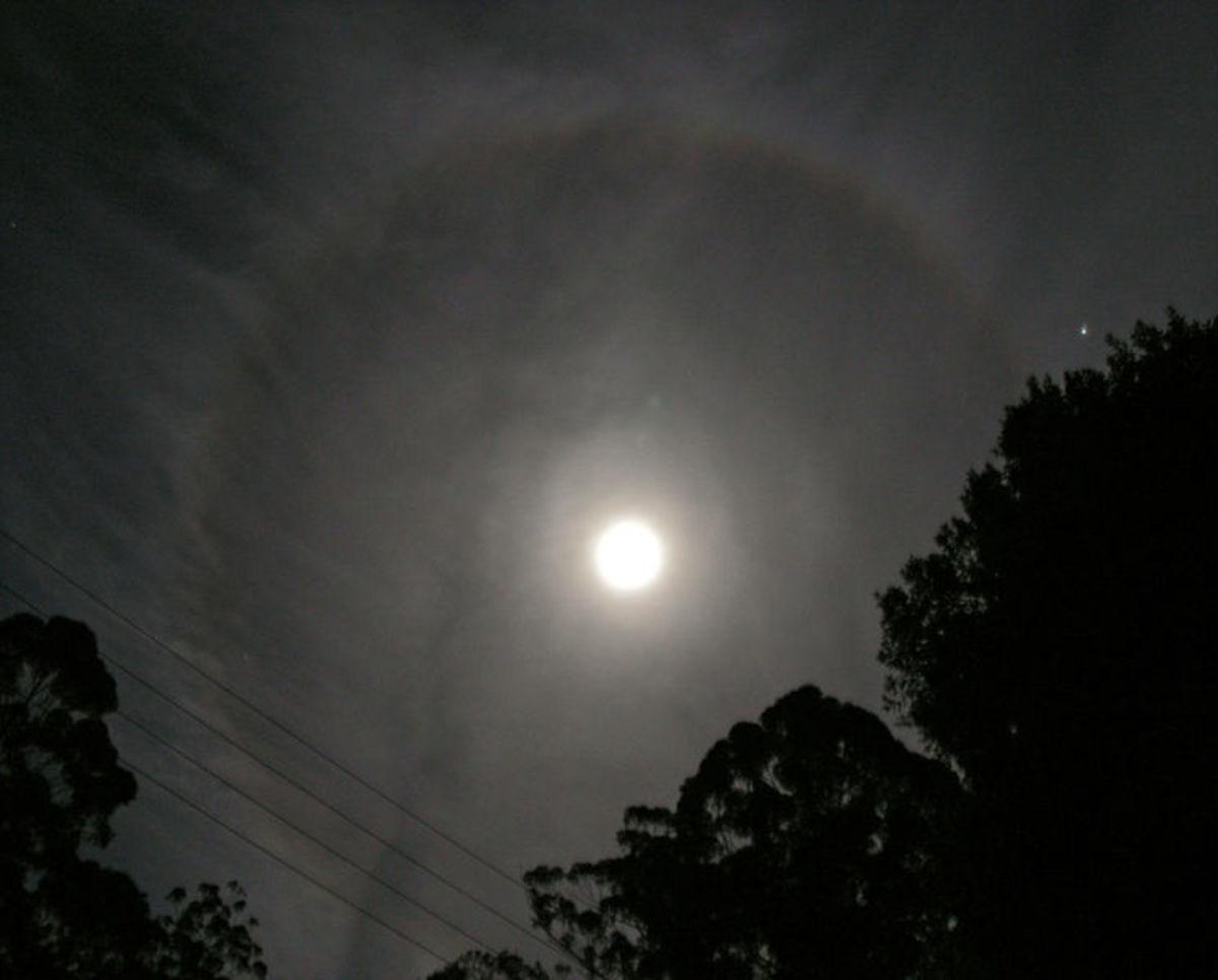 Cirrostratus at night