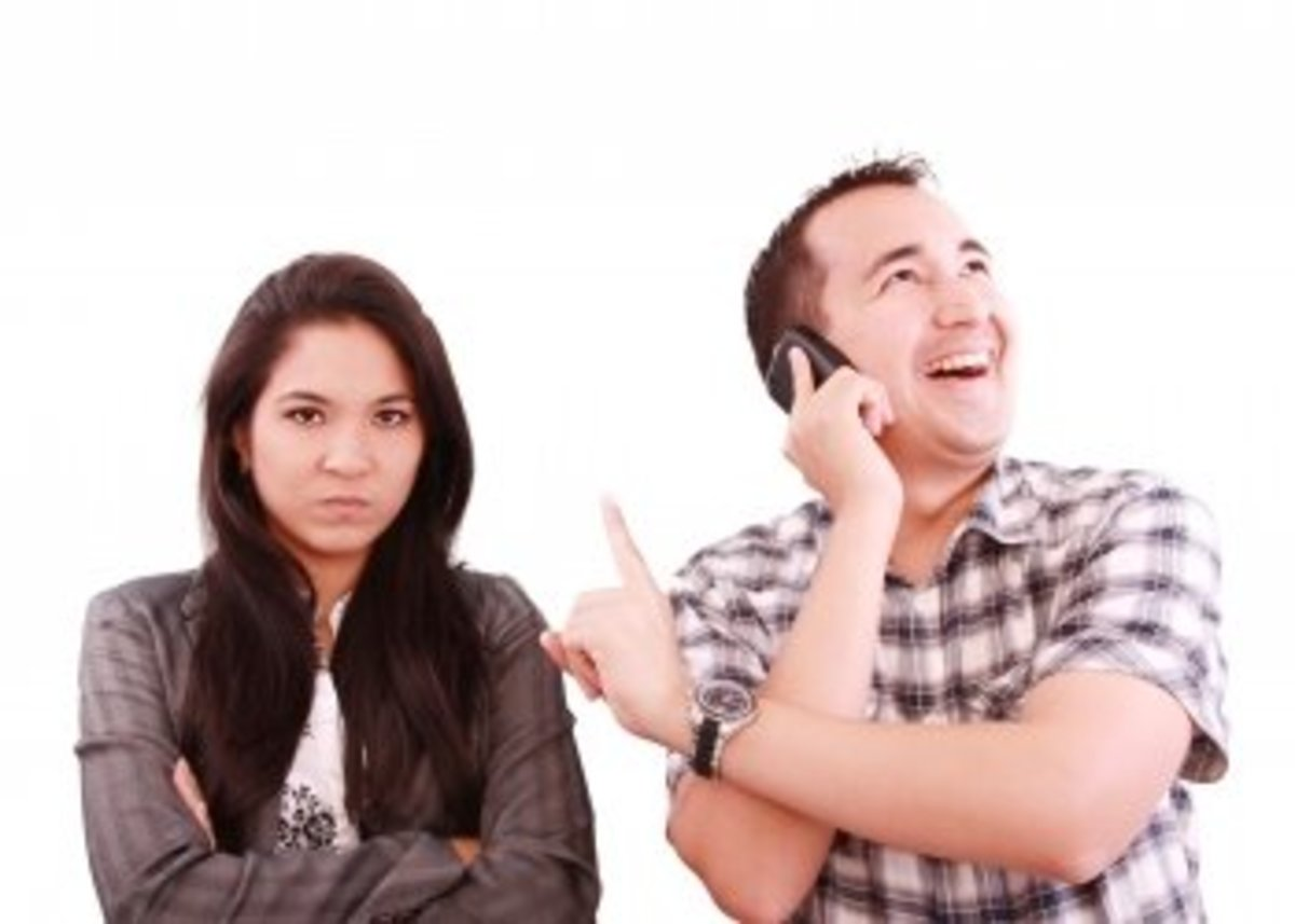 Are your partner's conversation with a certain someone bothering you? If yes, then tell him/her. Unless your partner is a psychic, he/she will not know it unless you spell it out.
