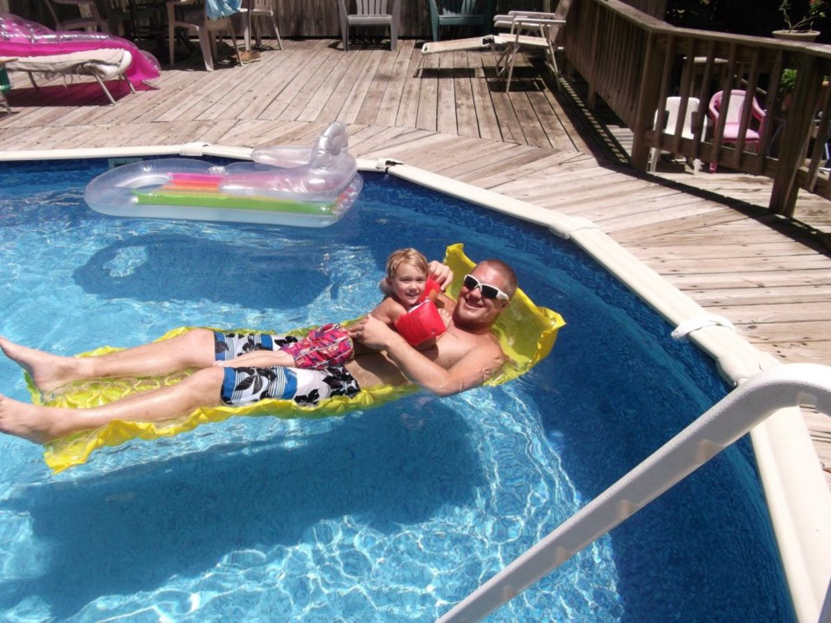 We use our pool floats almost every day in the summer.