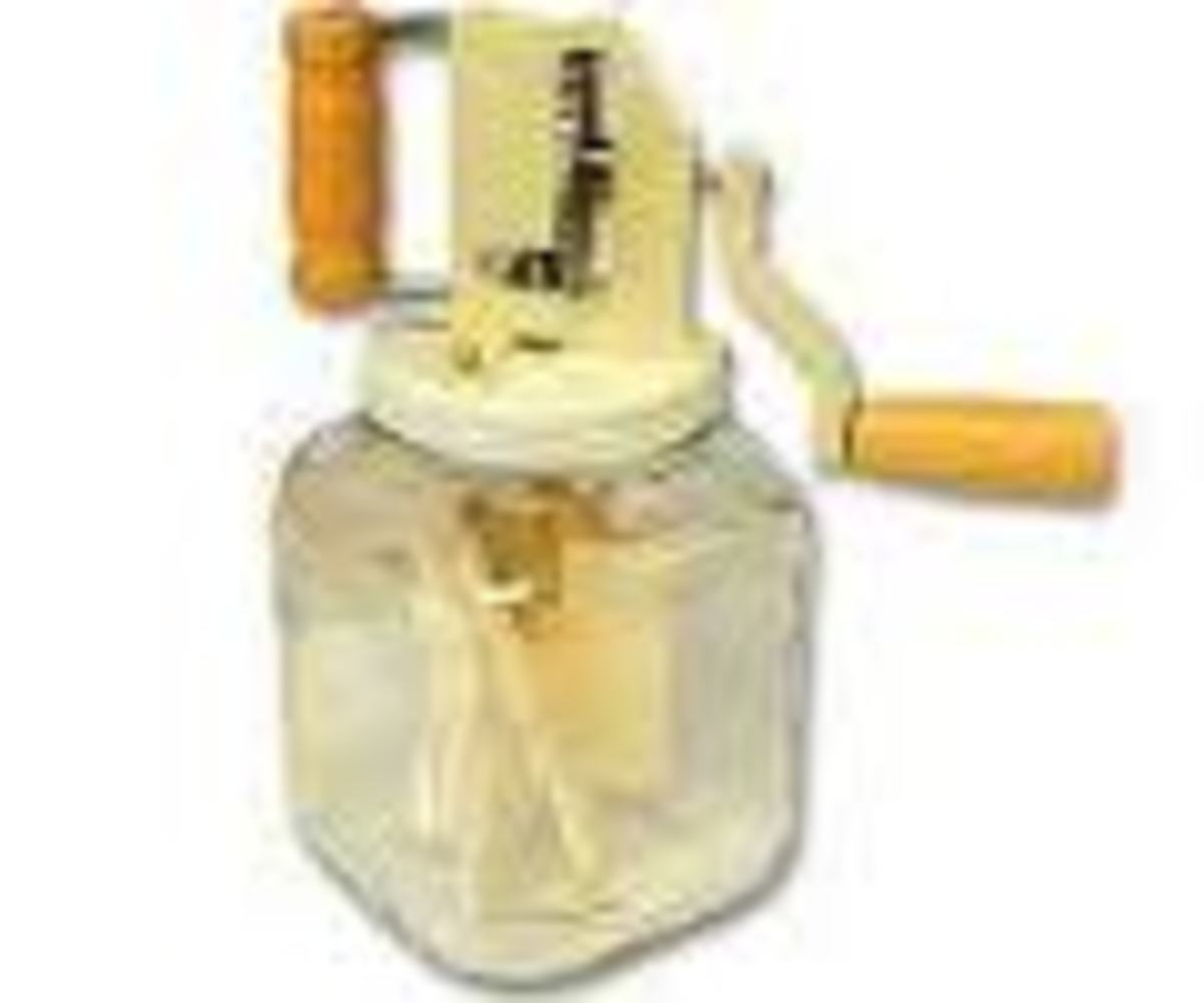 New Glass Butter Churn