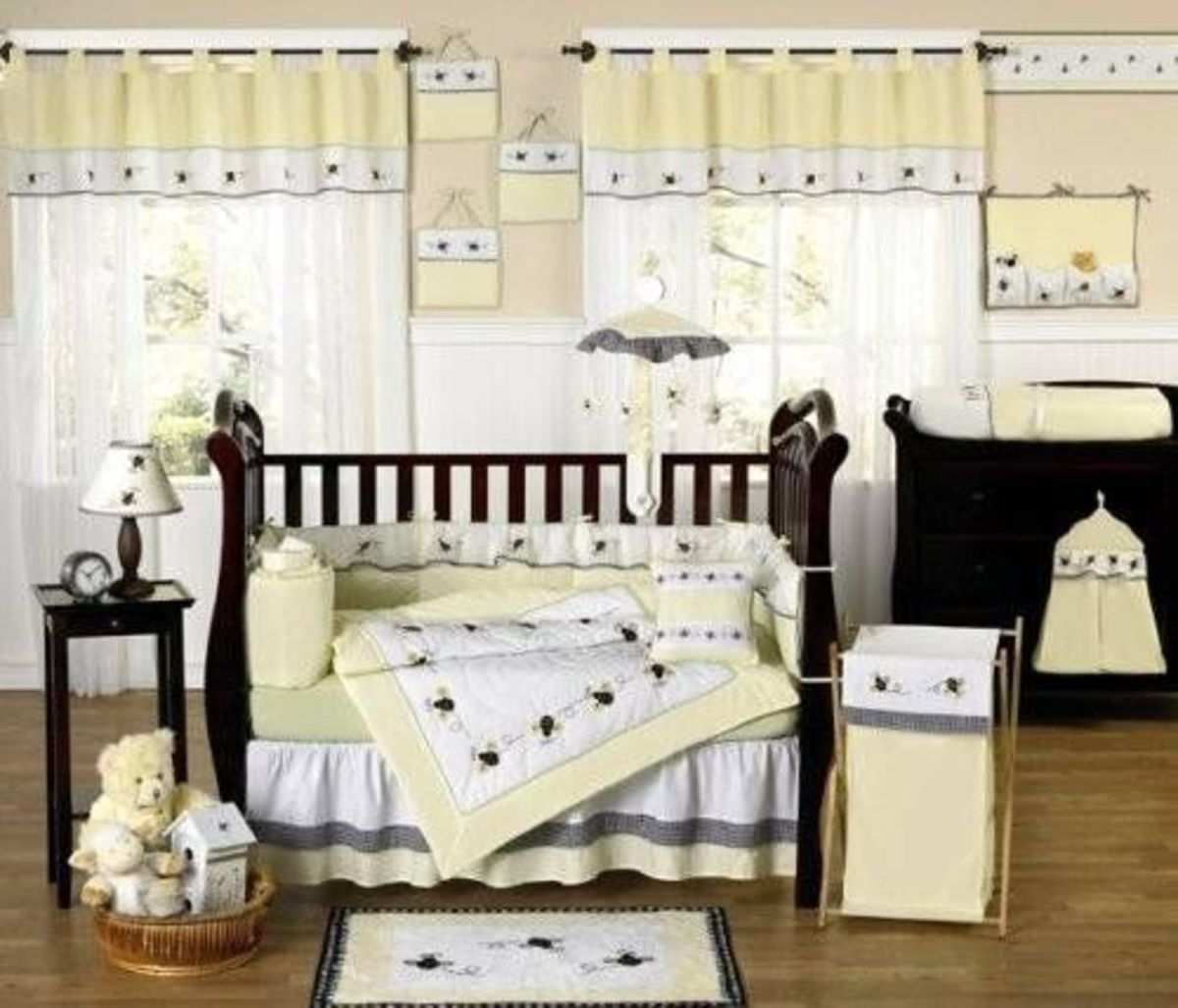 JoJo Designs 9-Piece Baby Designer Crib Bedding Set - Bumble Bee