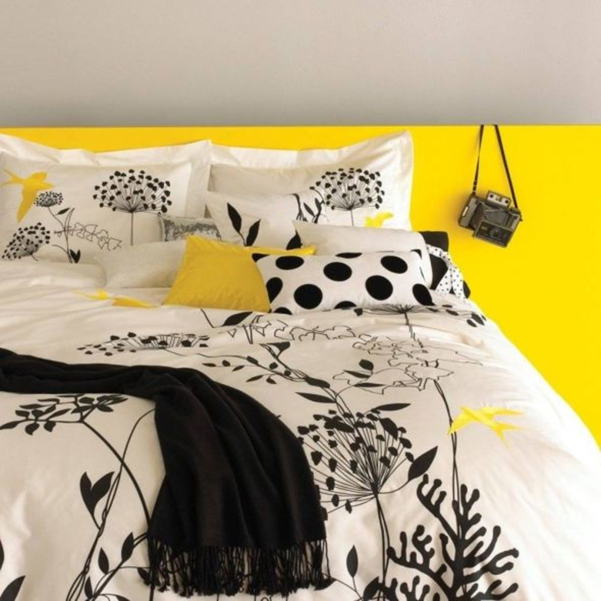 Anis Yellow Gray Duvet Set