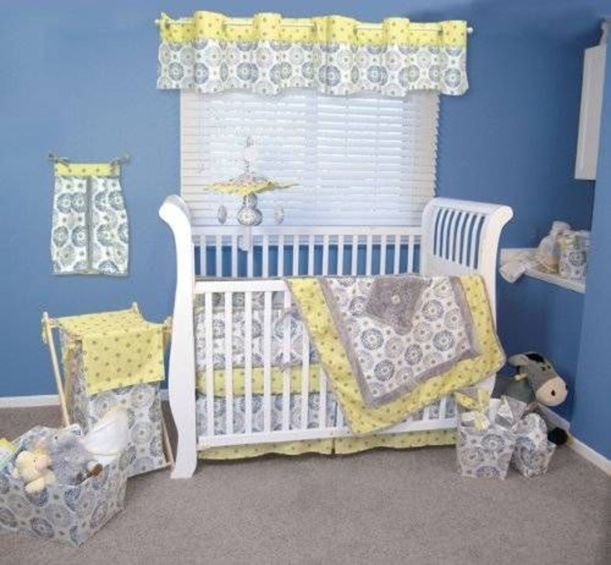 Trend Lab 4 Piece Crib Bedding Set Gray And Yellow