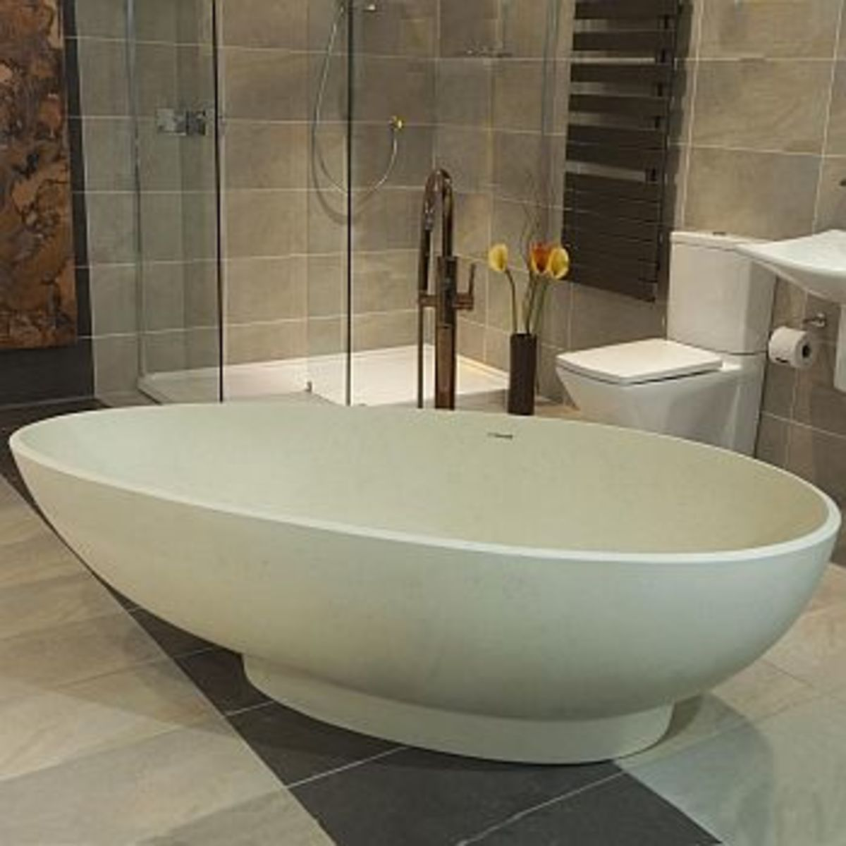 Olympian Nero Stone Bath by Boundary Bathrooms (unfortunately no longer available)