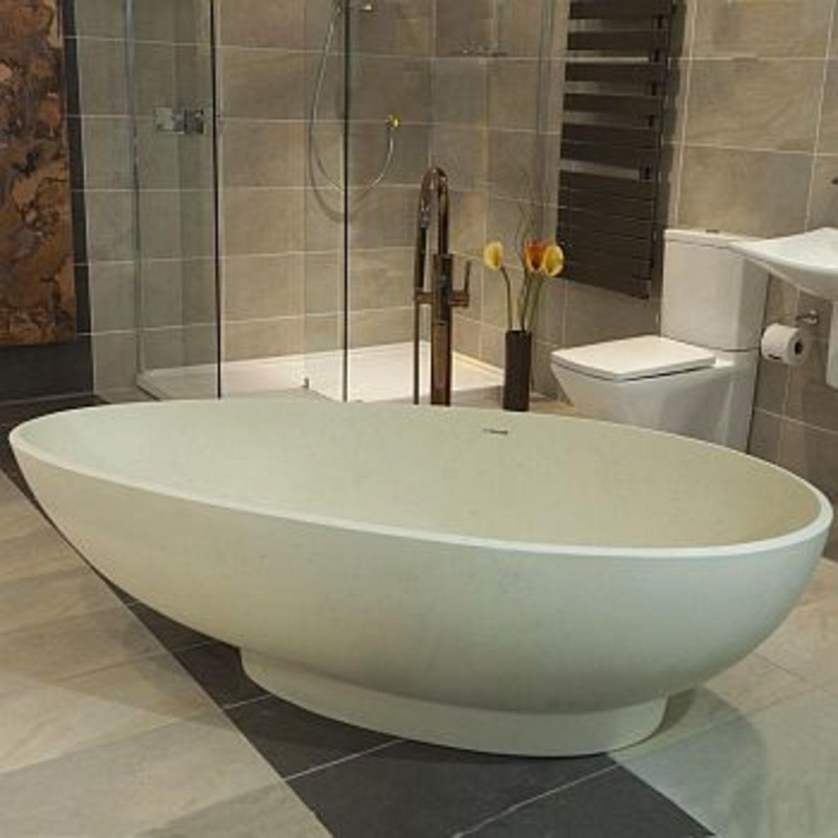 Olympian Nero Stone Bath by Boundary Bathrooms (unfortunately no longer available)