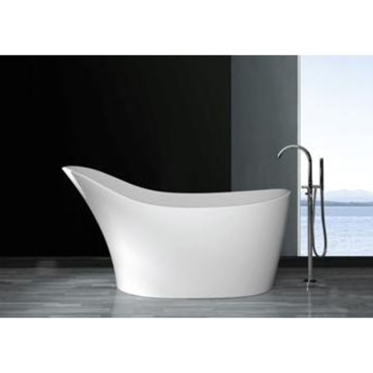Olympian Pantheon Slipper Stone Bath by Boundary Bathrooms