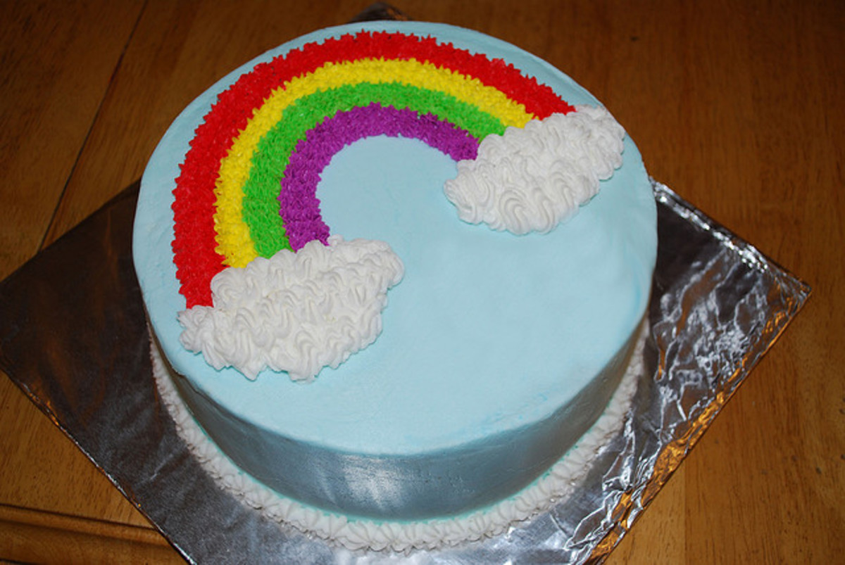 Easy Rainbow Cake Decoration : How To Make a Rainbow Birthday Cake