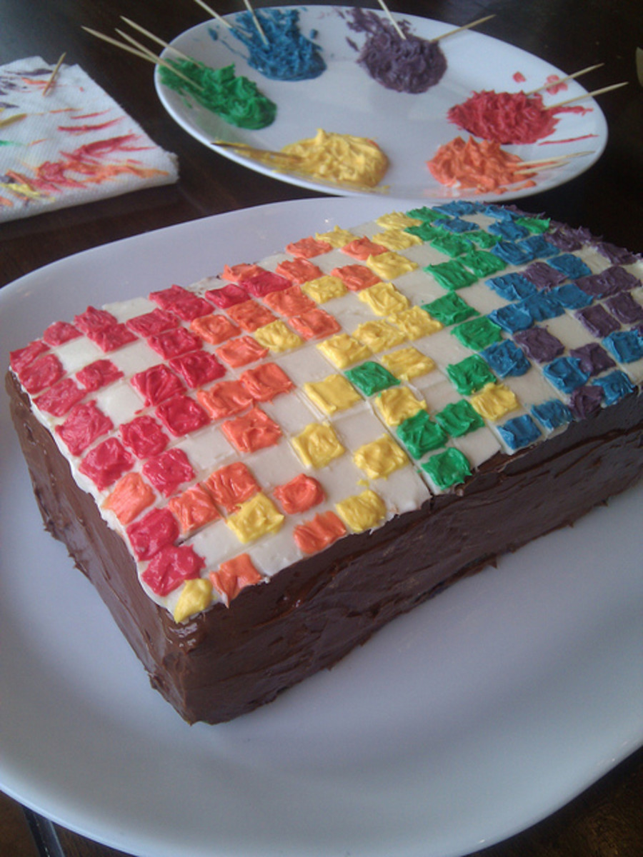 Rectangular Rainbow Cake