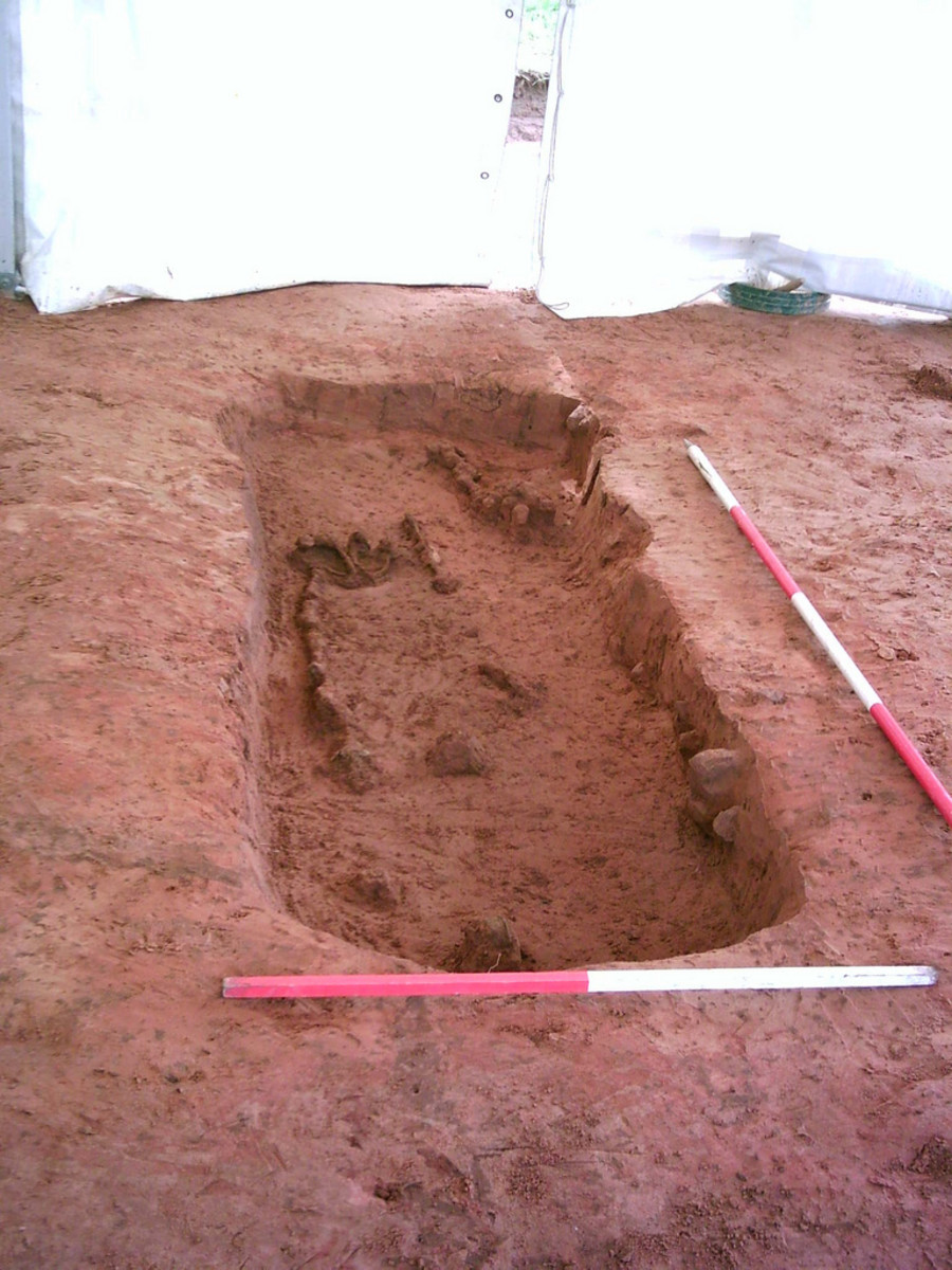 Viking grave at Cumwhitton