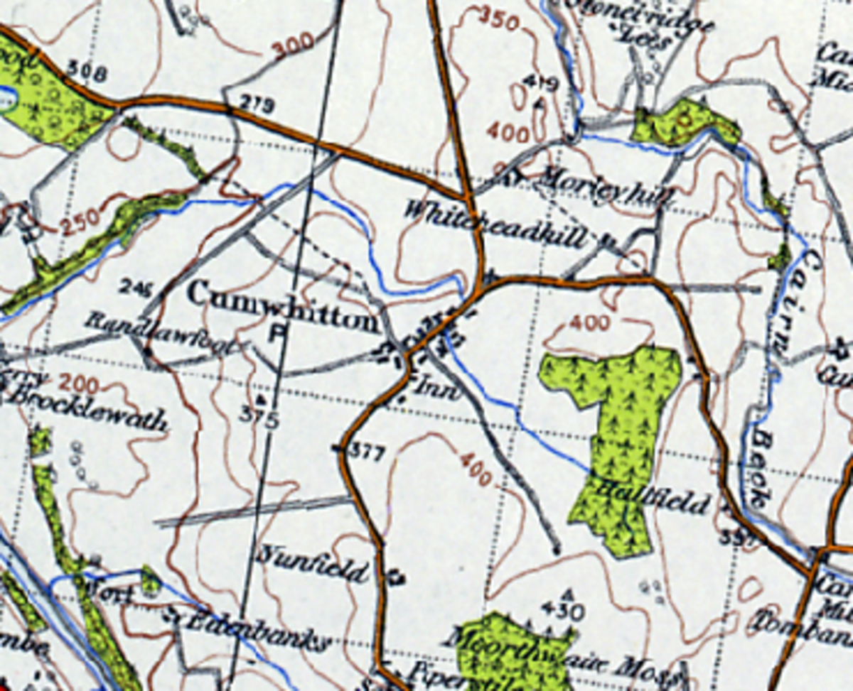 Cumwhitton locality in Cumbria, near the eastern bank of the River Eden. Large scale Norse settlement took place from the tenth century after expulsion from Ireland