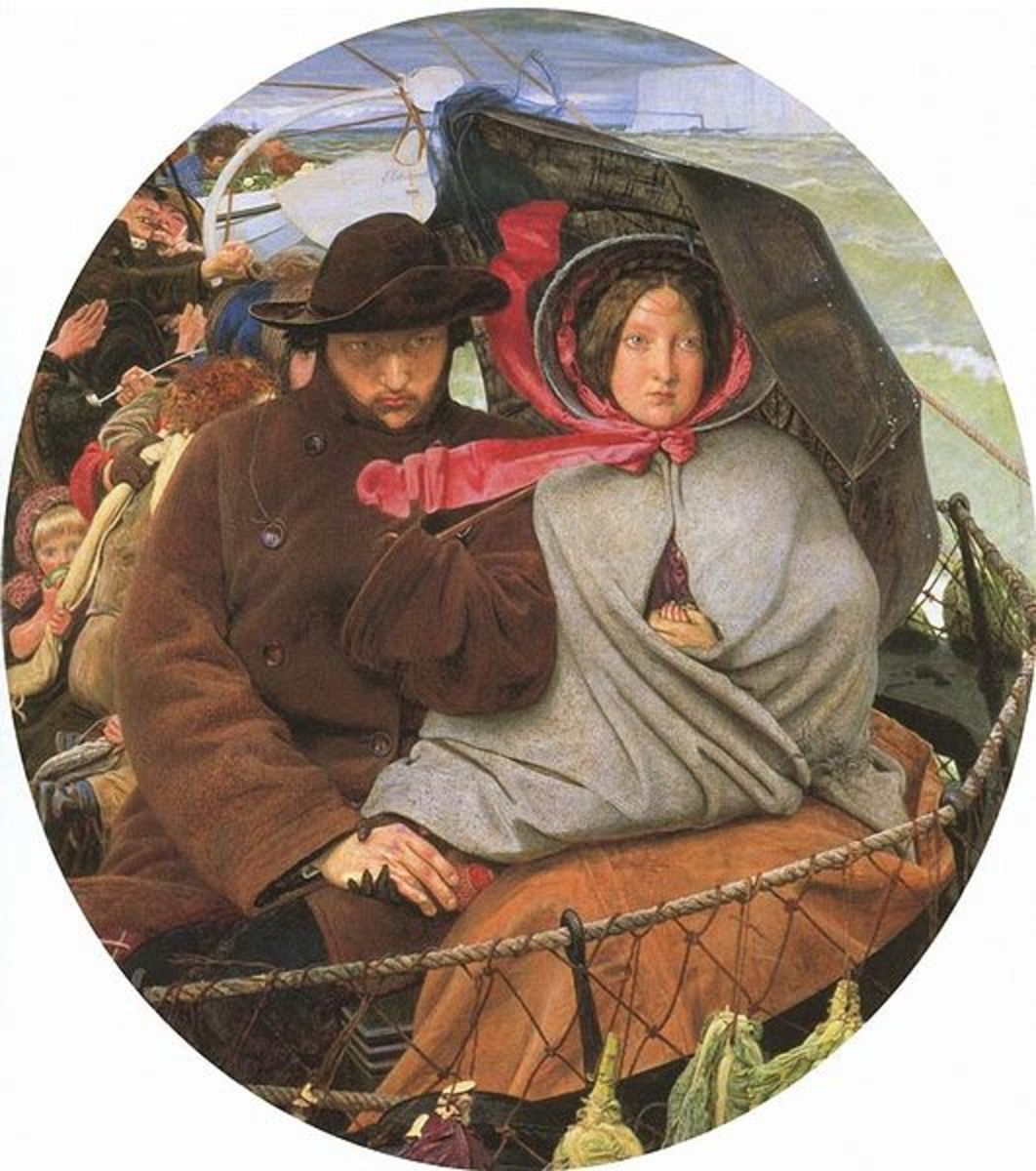 'The Last of England' by Ford Madox Brown 1855, Pre-Raphaelite Painting