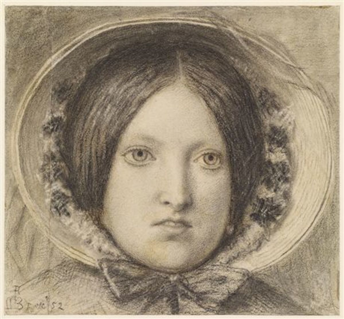 Ford Madox Brown's wife Emma Hill, served as the model for his painting 'The Last of England'