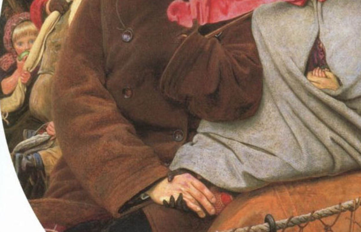 Detail from 'The Last of England' by Ford Madox Brown