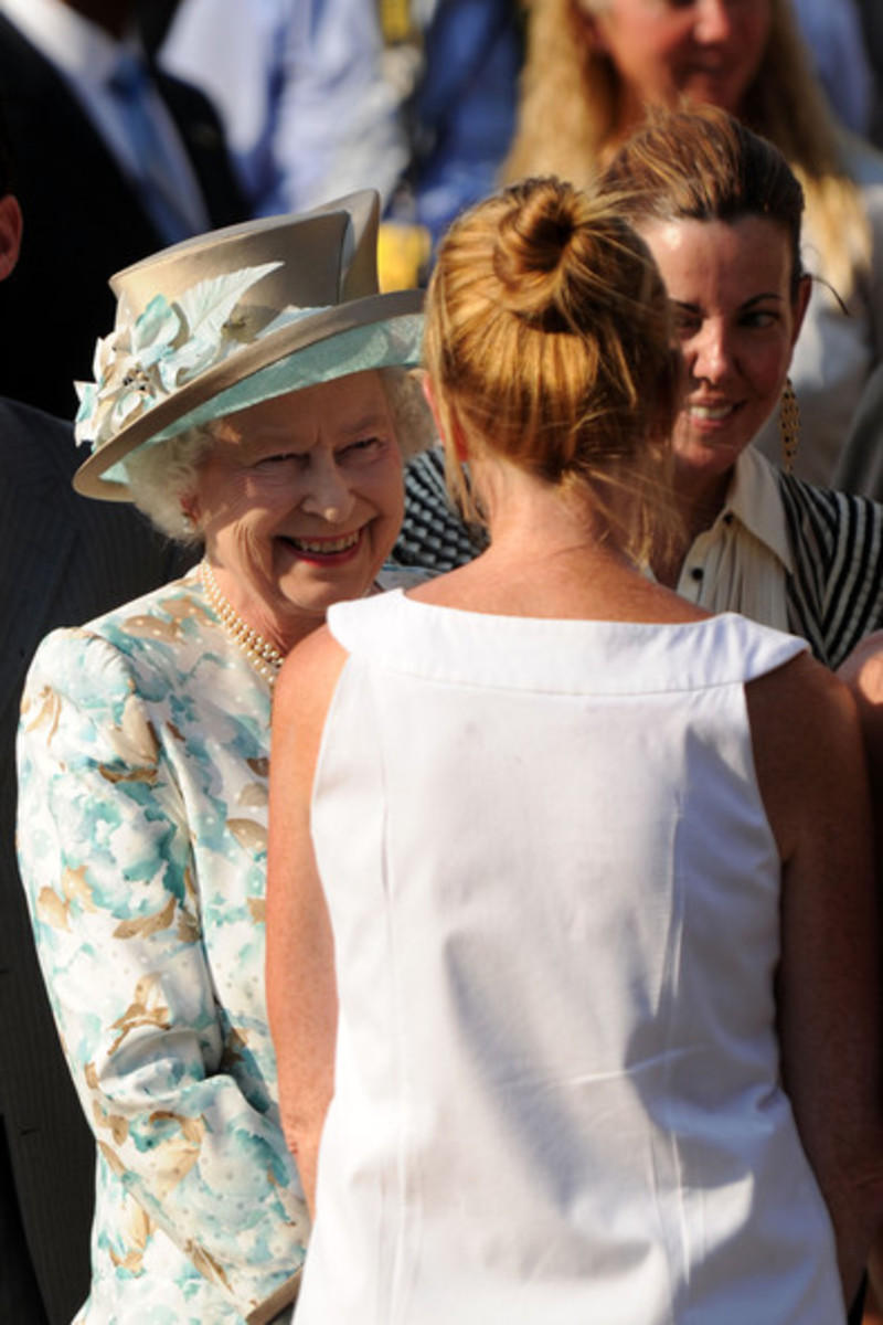 The Queen Talking With New Yorkers.