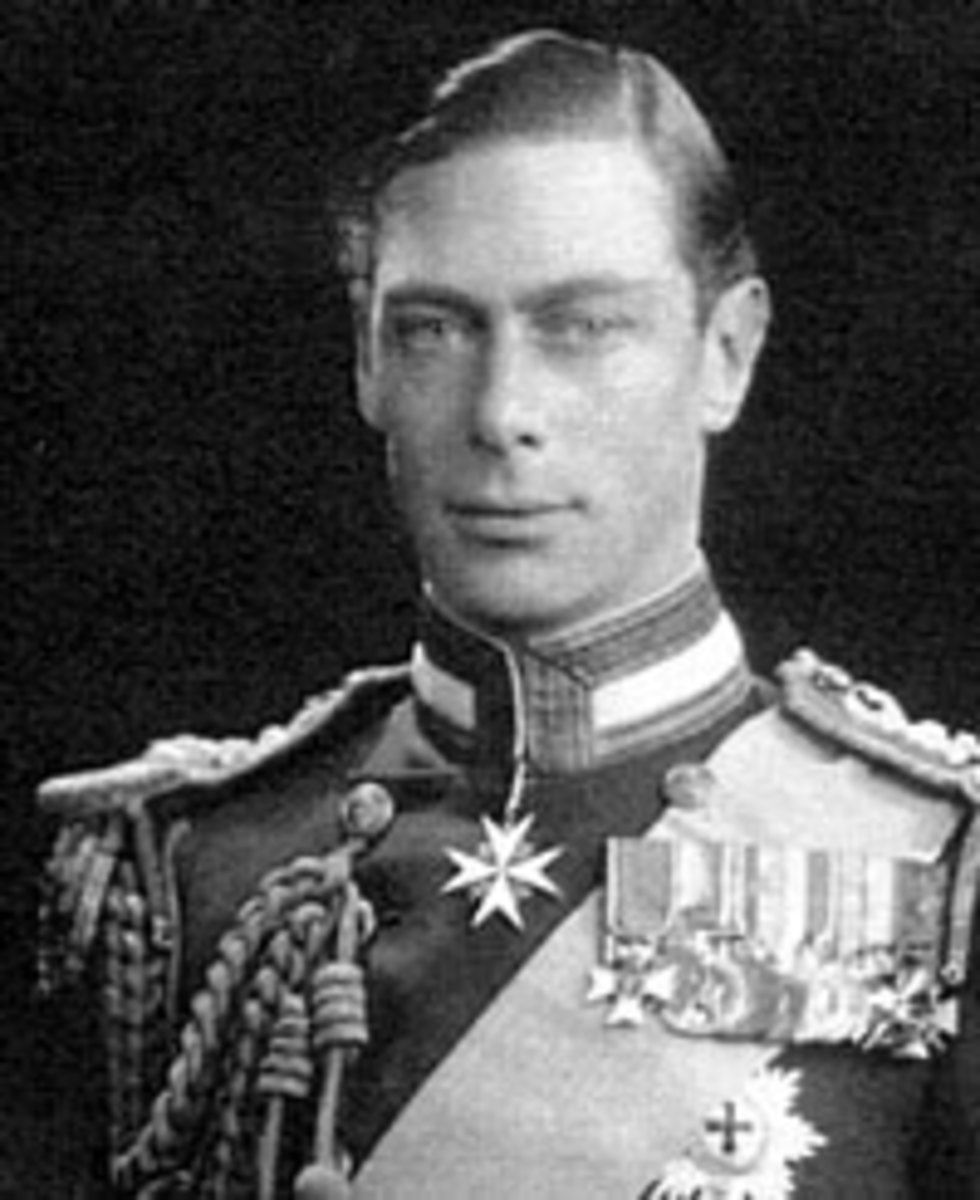 King George VI. Queen Elizabeth II's Father.