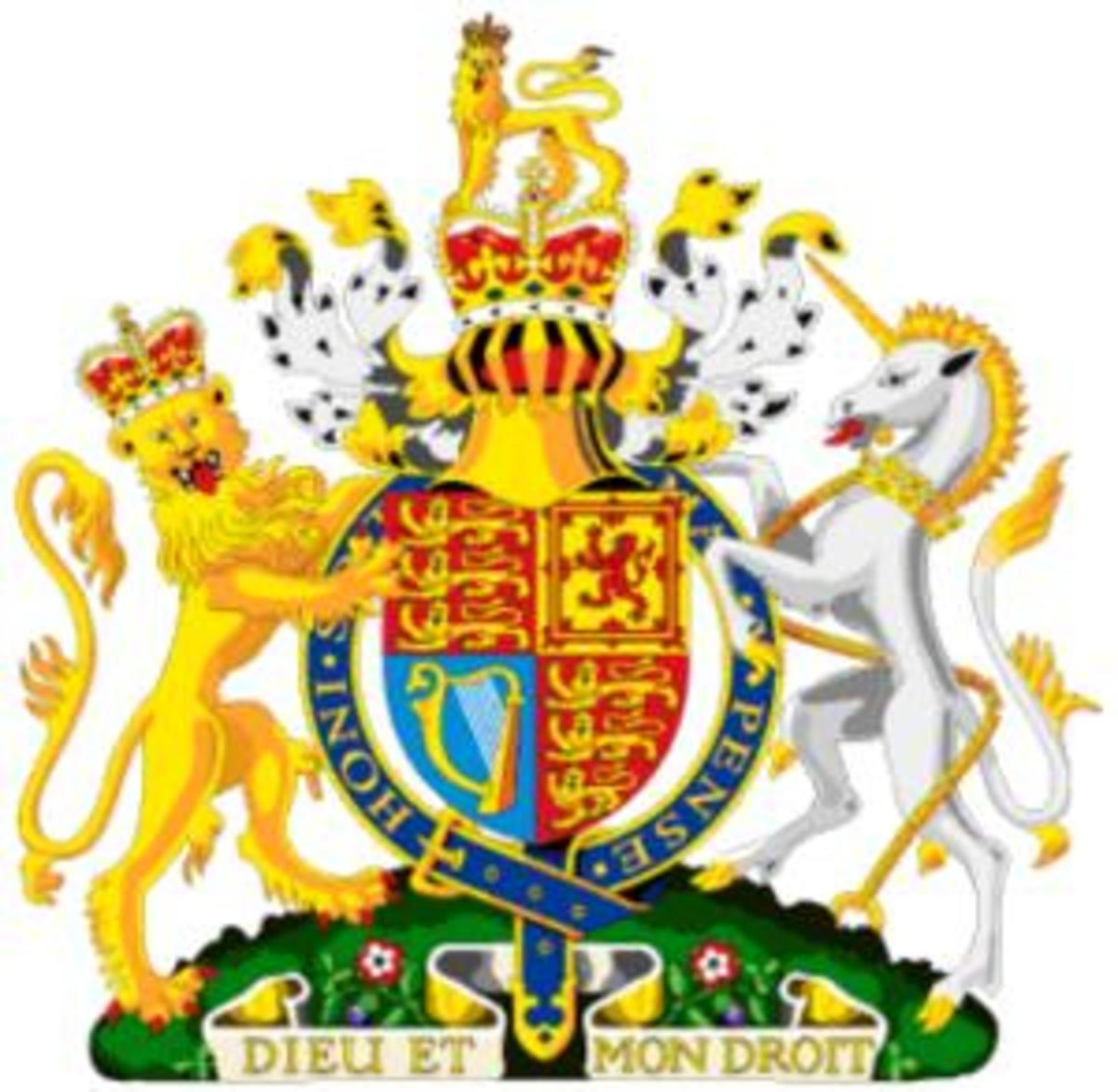 The United Kingdom Coat Of Arms.