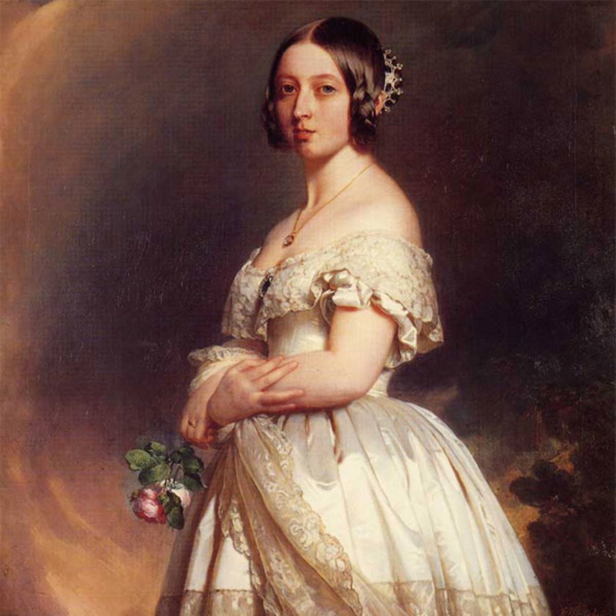Queen Victoria At The Start Of Her 64-Year Reign.