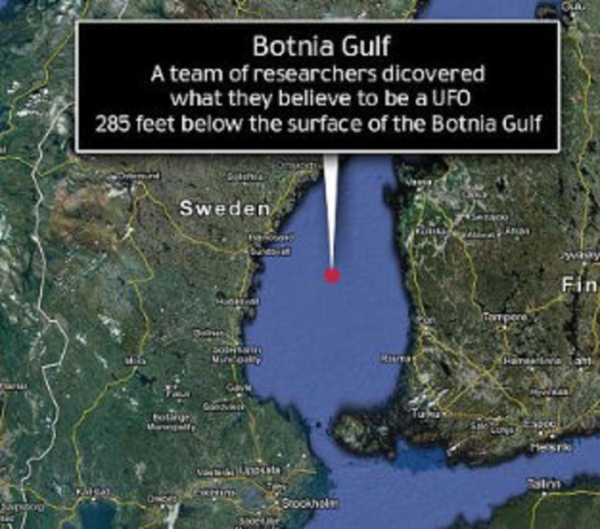 Botnia Sea Anti-submarine net map