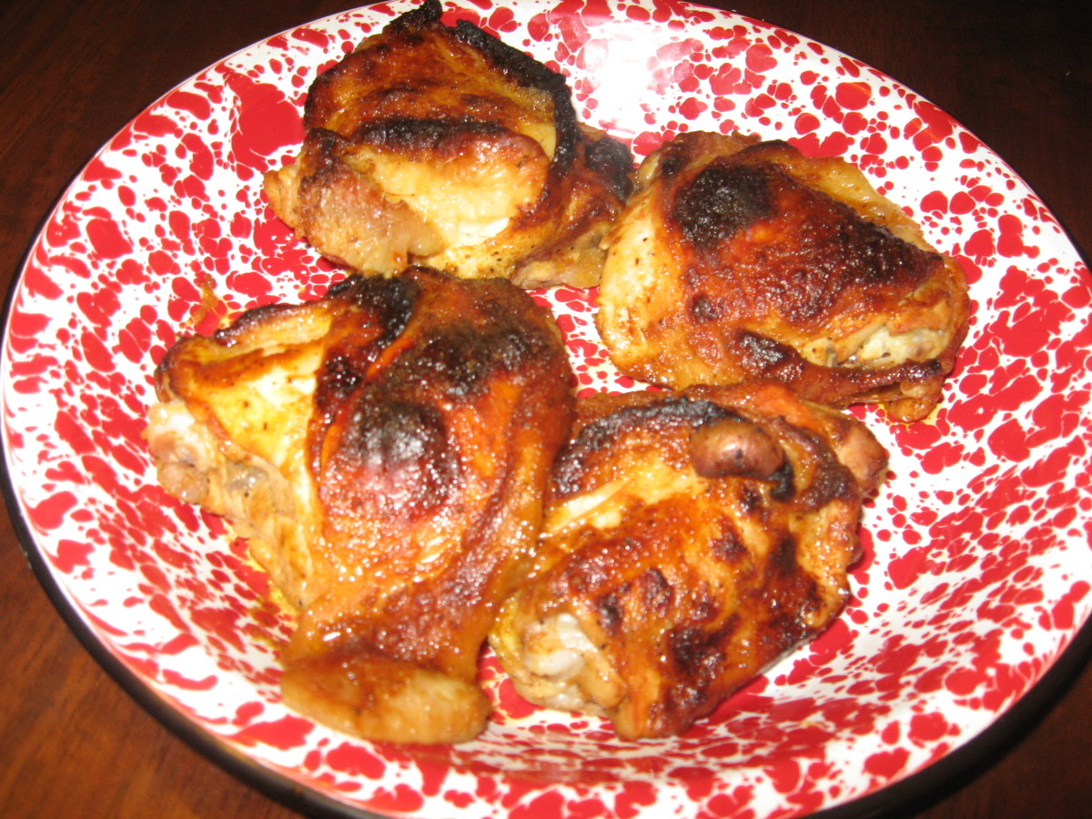 I sometimes use BBQ sauce with my baked chicken recipes.