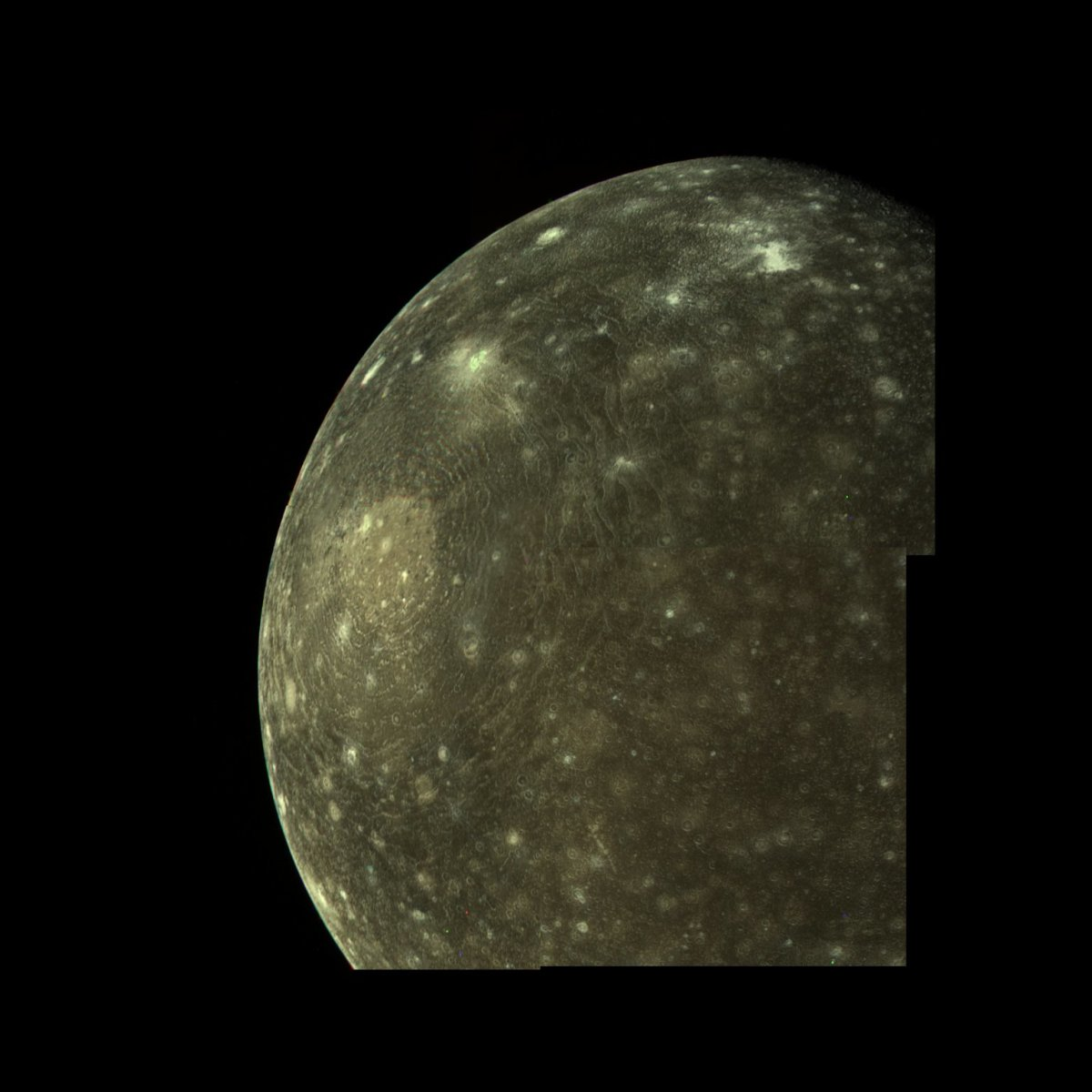 Callisto, the third largest moon in the Solar System.
