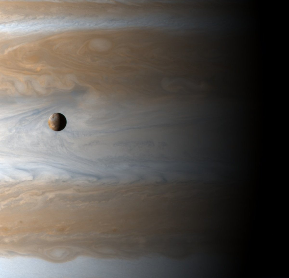 Io transiting Jupiter