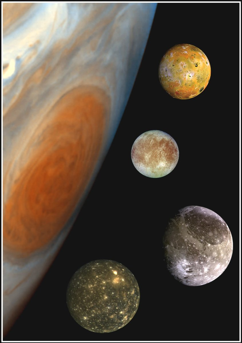 The Galilean Satellites and Jupiter's Great Red Spot