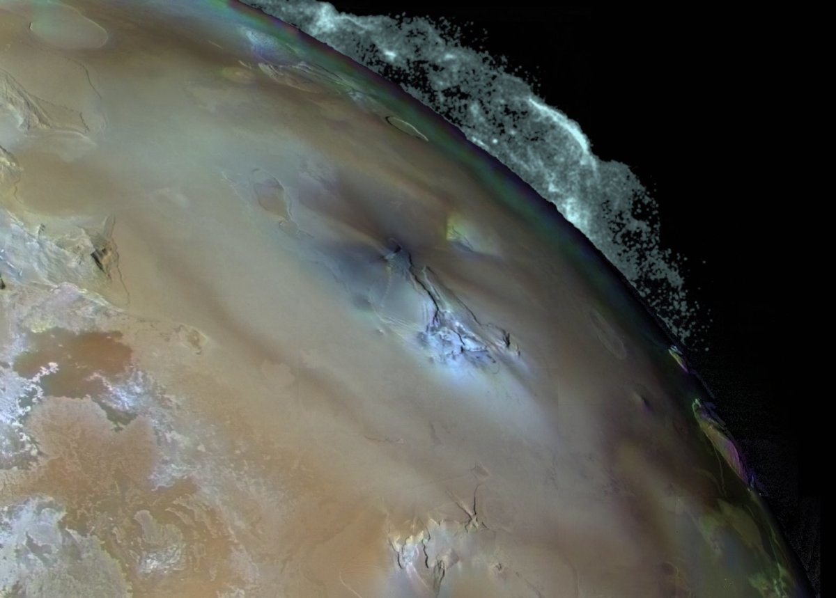 Pele erupting on Io