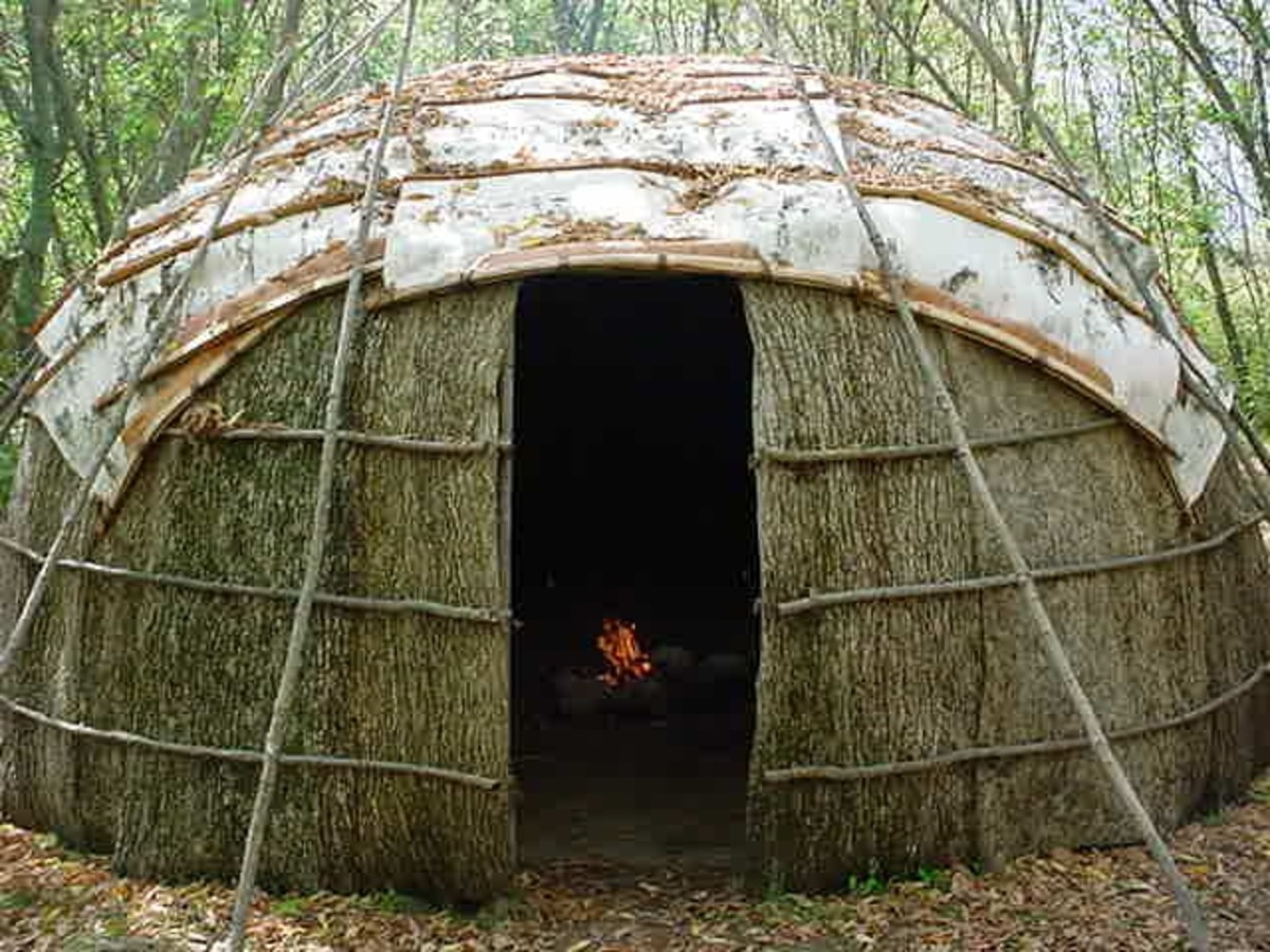 The wigwam is simple to build, but not necessarily portable. With some planning a person can build a wigwam from locally available materials in several hours. They can be made to house several people.