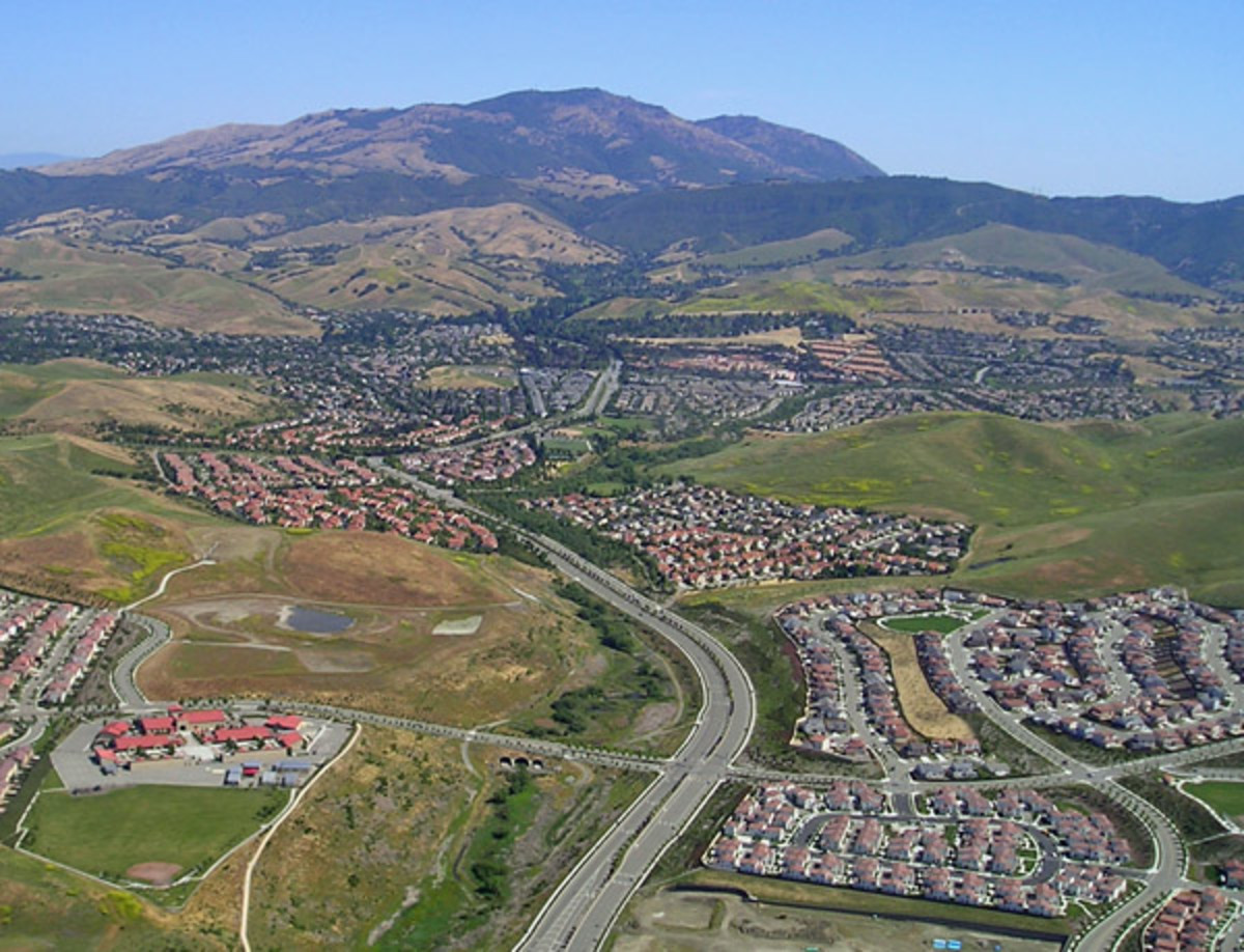 Urban sprawl typically looks like this where hundreds or thousands of homes are built in one location. Every one of these homes is managed on credit from the bank where a default can mean foreclosure.