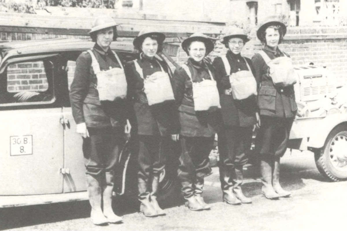 WVS Members in Chatham, Kent prepared for Air Raid duty