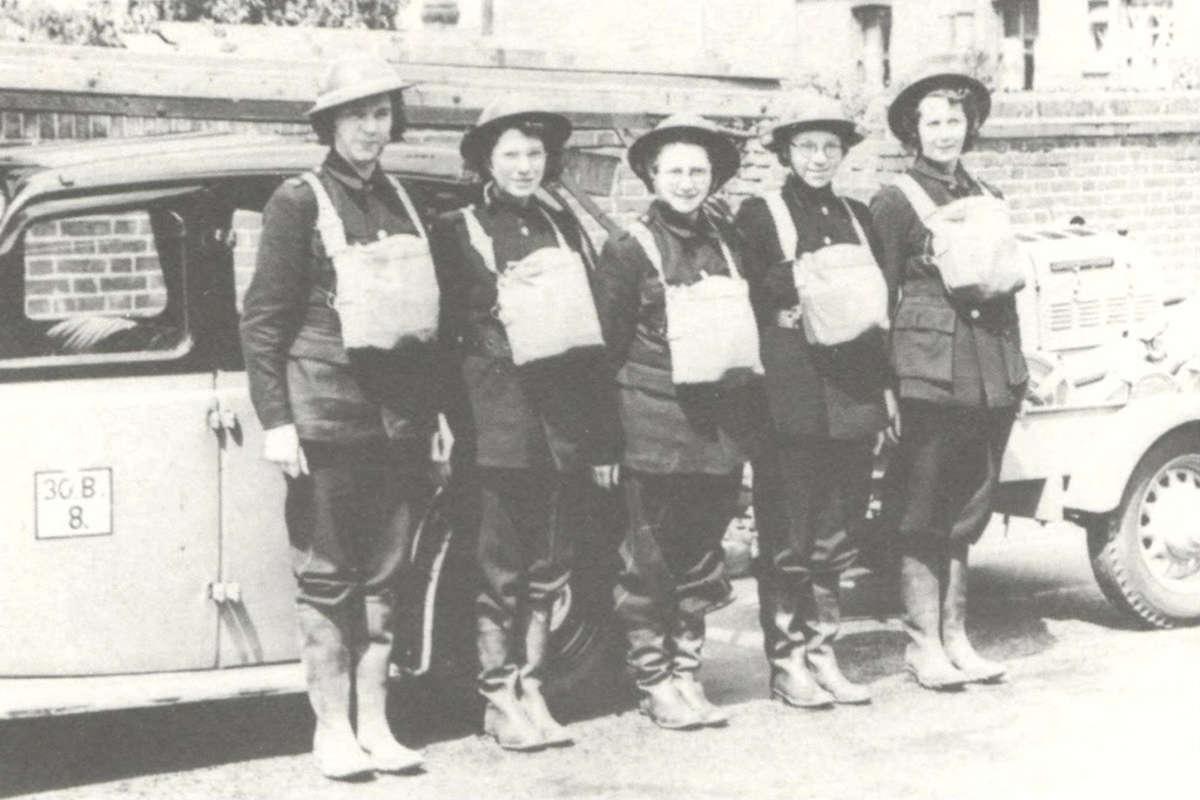 WVS Members in Chatham, Kent prepared for Air Raid duty