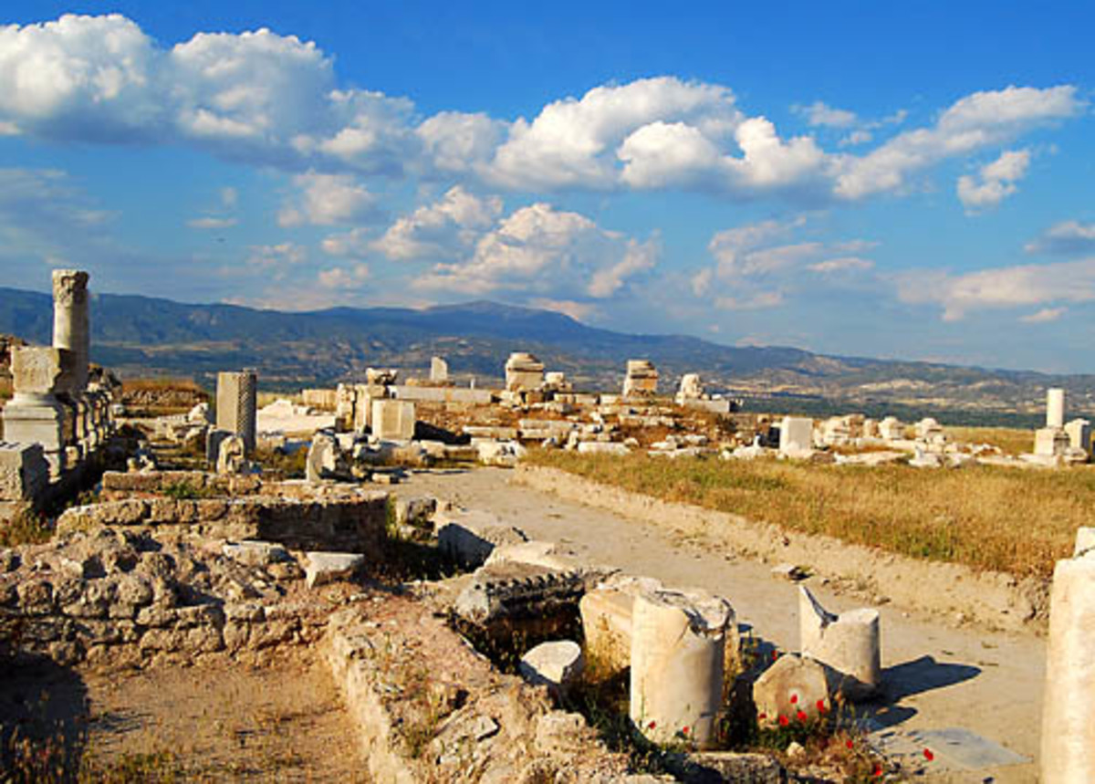 What is left of the church of Laodicea: Not as God's Punishment.  What we as Christians today should learn about the church of Laodicea is that this life is going to fade away one day.