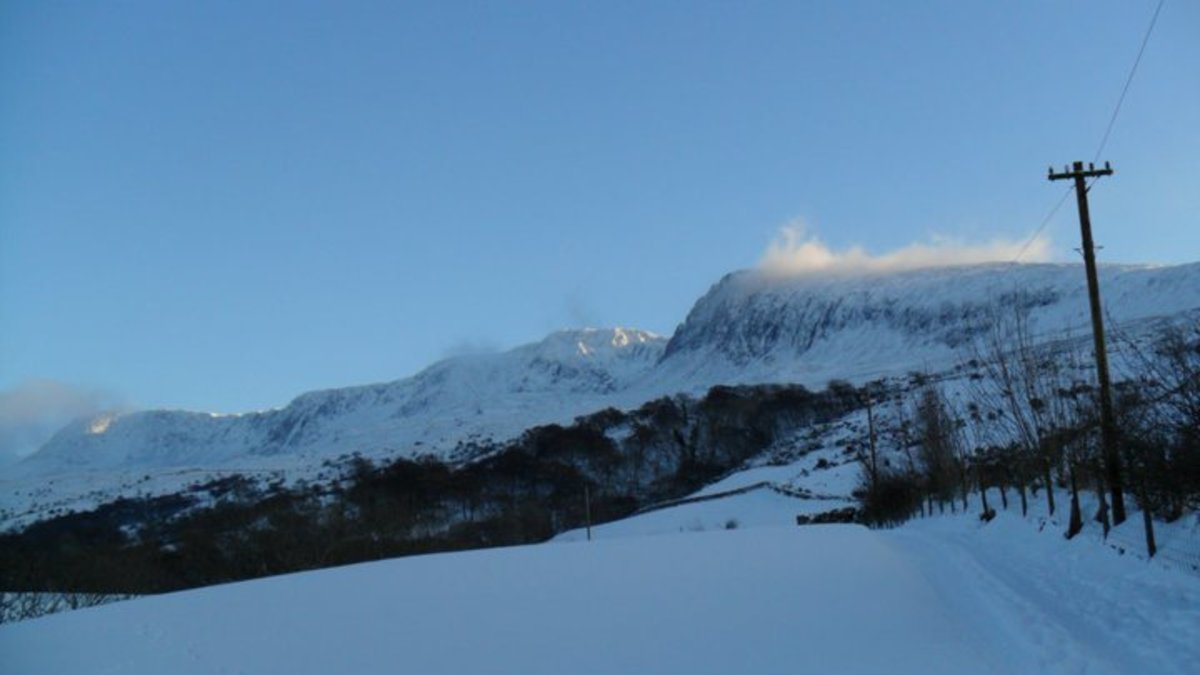Cader Idris in the snow