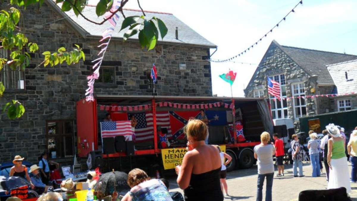 small music festivals like this country western music festival takes place in Barmouth every summer