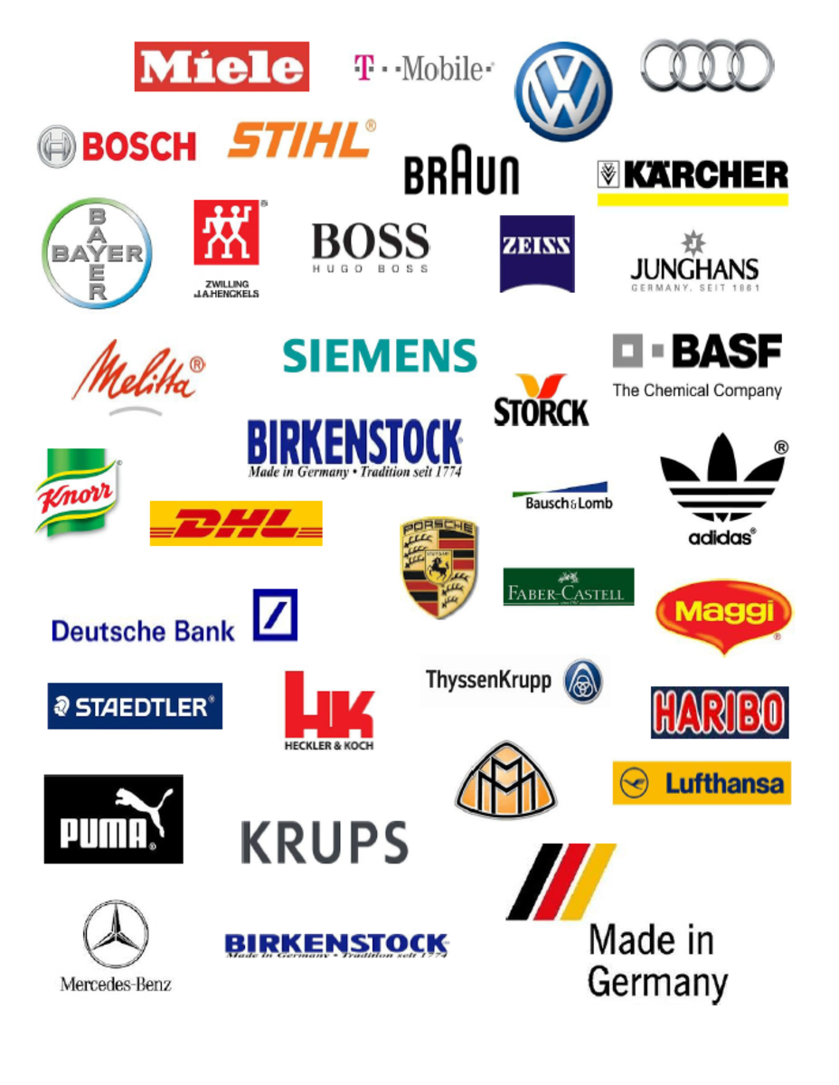 Logos of German companies.