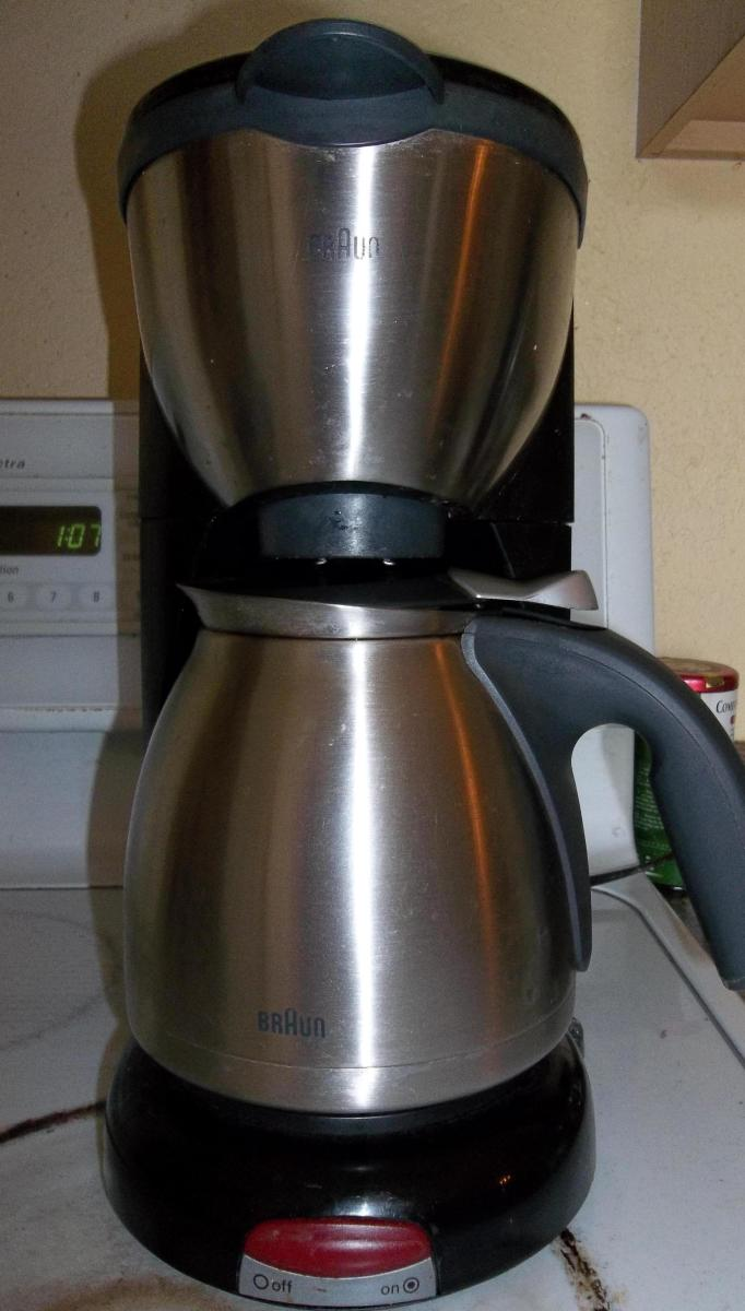 Braun coffee pot.