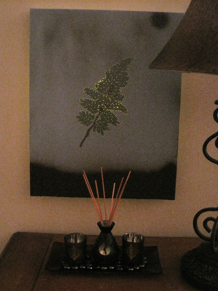 A lighted canvas is a beautiful customized craft that makes a great night light.