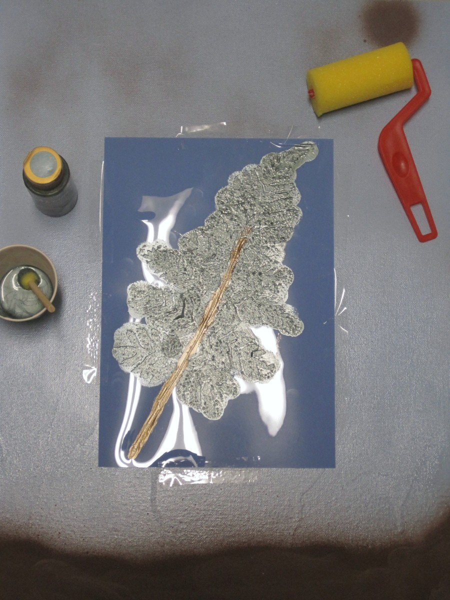 Allow the paint to dry completely before removing the stencil.