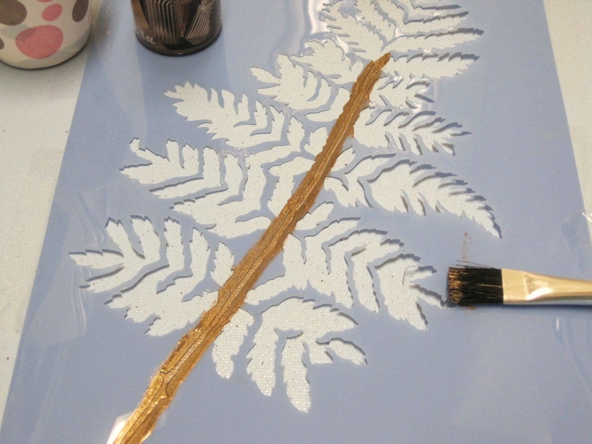 If painting a stem or a tree, use a regular paint brush.