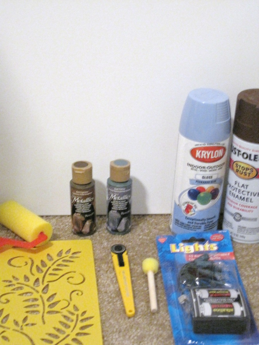 Supplies needed for a Light Up Canvas
