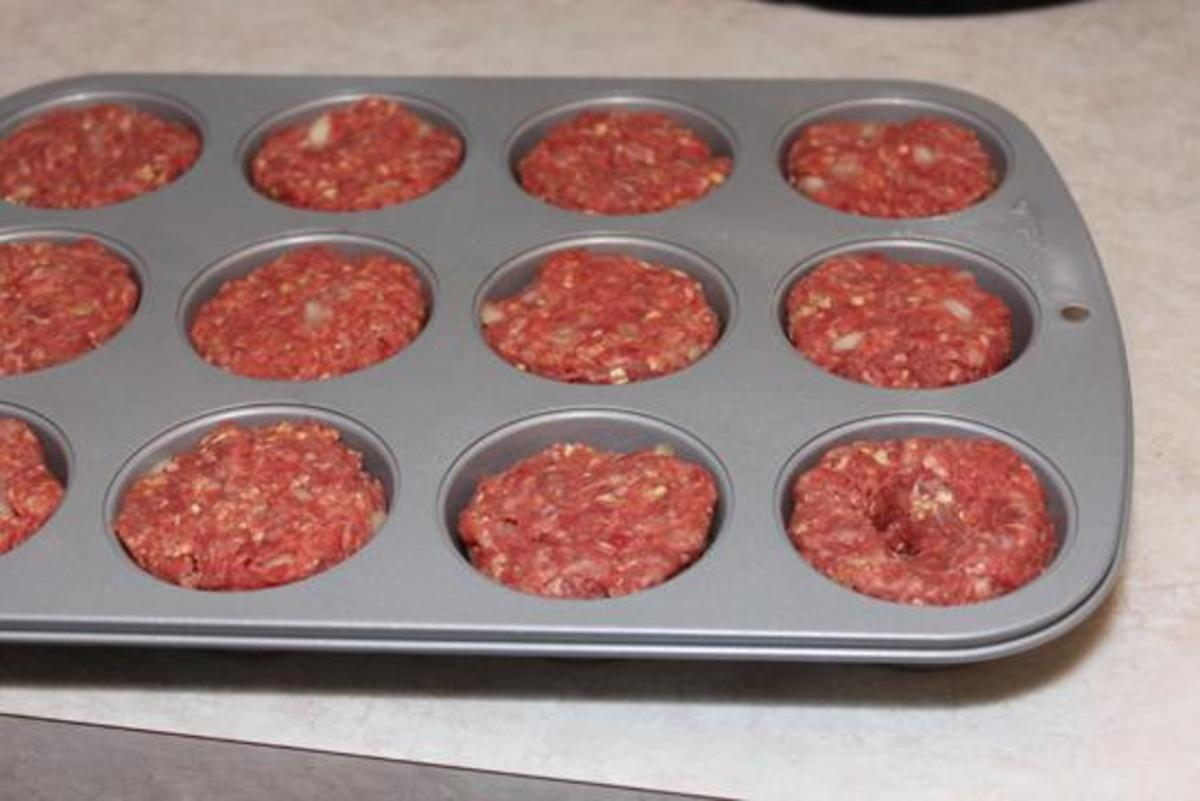 This is how your mini meatloaves will look like in a muffin pan.