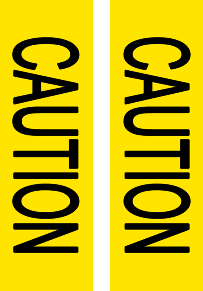Print several sheets of this, trim edges and piece together to create your own caution tape.
