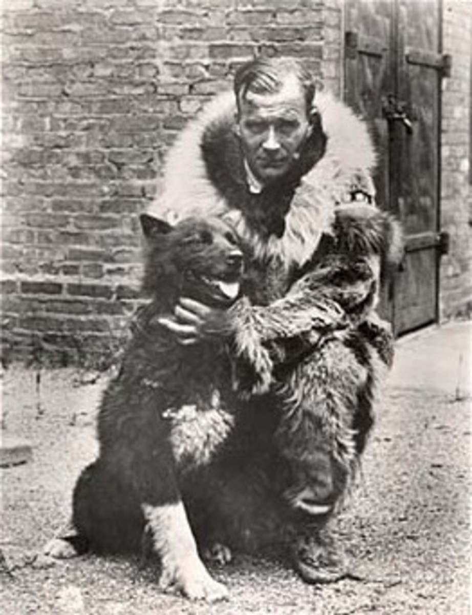 Sled dog Balto with Gunnar Kaasen