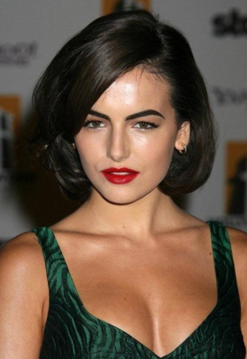 Camilla Belle in a Classic Bob Hairstyle. The best celebrity bob hairstyles to try.